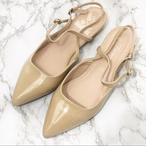 🆕 Nude pointed toe strappy flats